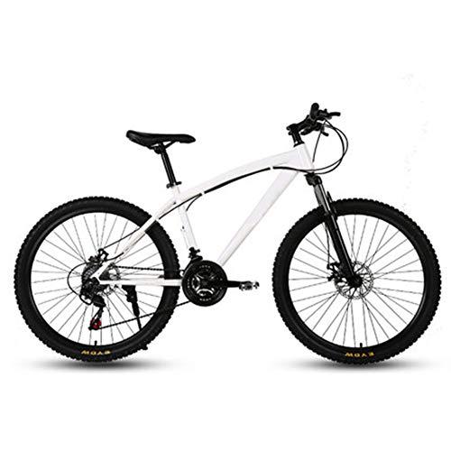 26-Zoll-Mountainbikes, Doppelscheibenbremse Hardtail Mountainbike, Herren Damen High-Carbon Stahl All Terrain Alpine Fahrrad Anti-Rutsch-Bikes,30 Speed