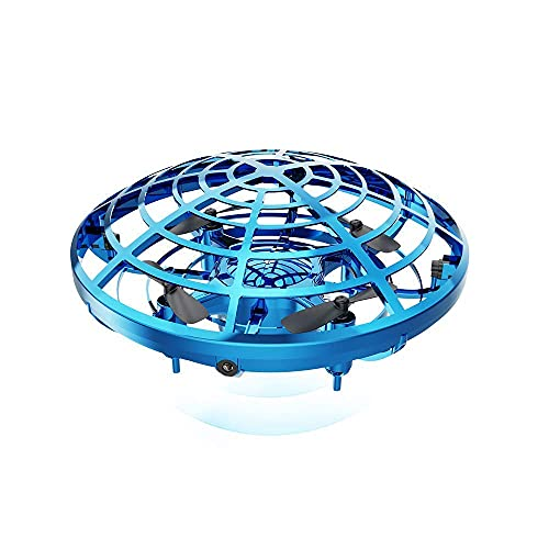 YOKRYO UFO Drone Flying Toy, Infrared Induction Flying Drone with Lights for Kids, Teenagers, and Color
