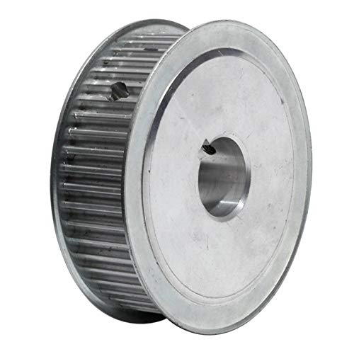 Gfpql WYanHua-Timing pulley, HTD5M-100T Timing Pulley 21mm Belt Width, Gear Belt Pulley Keyway Type 100Teeth 19/20/25mm Bore, Aluminum Alloy Synchronous Pulley Transmission Smooth