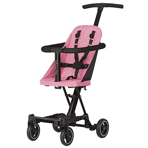 Dream On Me, Coast Stroller Rider, Lightweight, One hand easy fold, travel ready, Strudy, Adjustable handles, Soft-ride wheels, Easy to push, Pink