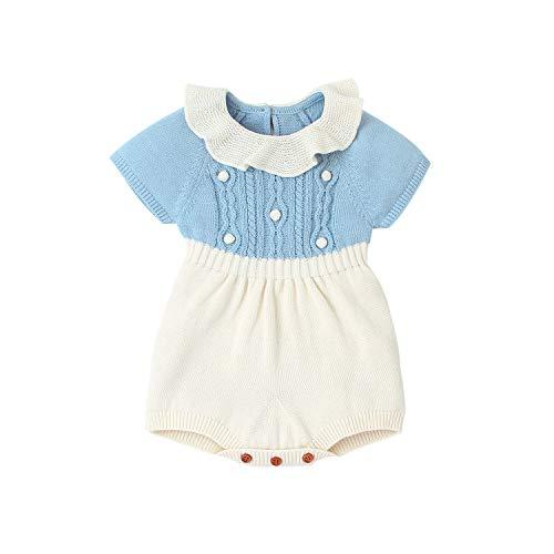 Wide.ling Pasgeboren Baby Meisje Kleding Gebreide Romper Bodysuit Jumpsuit Korte Mouw Sweater Leuke Topjes Onesies Outfits Set