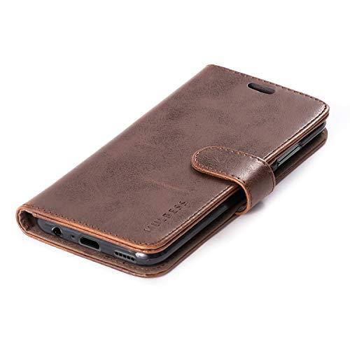 Mulbess Handyhülle für Honor 10 Lite Hülle, Leder Flip Case Schutzhülle für Huawei P Smart 2019 / Honor10 Lite Tasche, Vintage Braun - 5