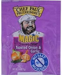 Chef Paul Prudhommes Magic Seasoning-Toasted Onion & Garlic (.25 oz packet/ Case of 144)