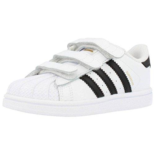 Adidas Superstar Foundation - Zapatillas de deporte para bebé, color blanco/ negro, talla 22