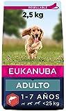 EUKANUBA Alimento seco para Perros Adultos de Razas pequeñas y Medianas, Rico en salmón y Cebada, 2,5 kg