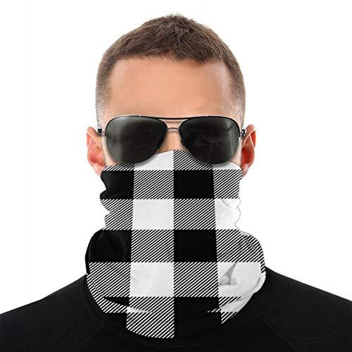 EU vierkant Schotse ruiten Lumberjack plaid patroon zomer ademend zonwering sjaal rijmasker multifunctioneel masker anti-UV