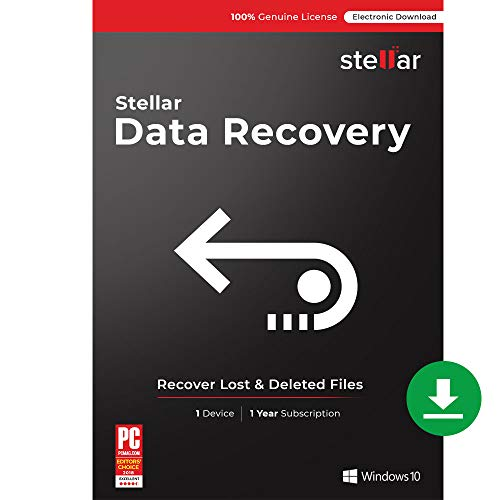 Stellar Data Recovery Software | Windows | Standard | 1 PC 1 Year | Email Delivery
