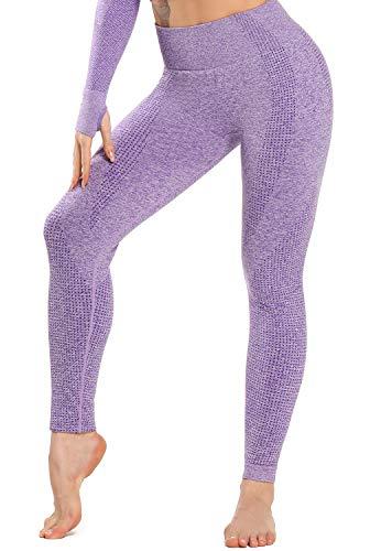 INSTINNCT Leggins Sportivi da Donna Vita Alta Pantaloni Elastici di Fitness per Allenamento Yoga Collant di Base Dimagrante
