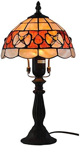 Schöne Beleuchtung City/Tiffany Europäische handgefertigte Kunst Kamelie Muschel Lampe Tischlampe Schreibtisch Lesestisch 20,3 cm