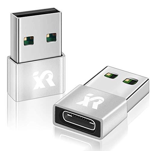 XINRUISEN Adaptador mini USB C a USB A, tipo C hembra a USB A macho para iPhone 12 Pro, Samsung Galaxy Note 20/S20/S10 A21S 5G, adaptador de carga USB para Laptap, Powerback, enchufe USB
