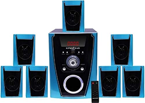 KRISONS Polo 7.1 Home Cinema Speaker System Multimedia with FM Stereo, Bluetooth,...