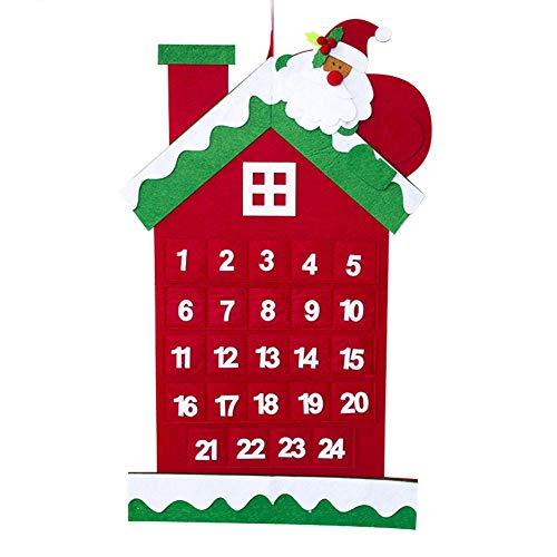 Stronrive Weihnachten Countdown Kalender Haus, Santa House Weihnachtsbaum Adventskalender Ornamente, Hängende Ornament Anhänger Für Weihnachtsdekor