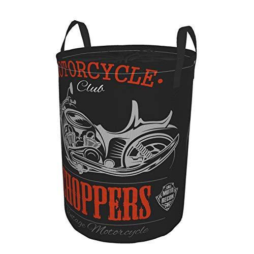 MEJX Plegable Grande Cesto de Ropa Sucia para el Hogar,Motociclista Motocicleta Chopper...