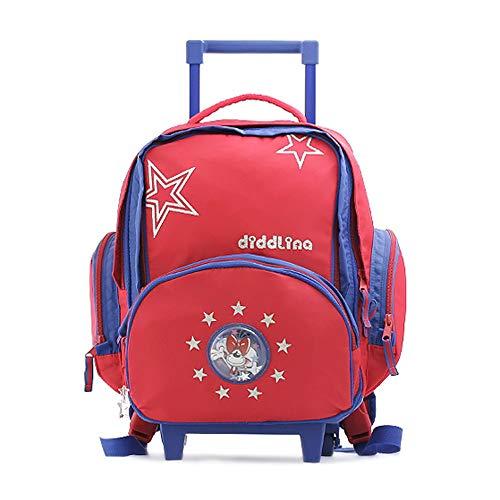 Diddl & Friends Sac à DOS scolaire Trolley Diddlina Kinder-Rucksack, 46 cm, Rot (Stars)
