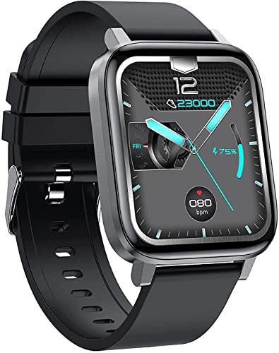 CNZZY F60 Reloj inteligente para hombre, temperatura, presión arterial, oxígeno/monitoreo de frecuencia cardíaca, seguimiento de actividad, podómetro, impermeable, reloj deportivo (B)