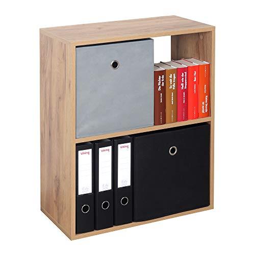 RICOO WM111-EG Estantería 71 x 60 x 31 cm Comoda pequeña Moderna Mueble Dormitorio Muebles de hogar Estante Zapatero Madera Color Roble marrón