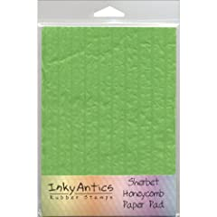 Honeycomb Paper Pad Perfect for all your creative needs Includes one 7x5 inch pad Create unique 3-D projects Available in a variety of colors: each sold separately