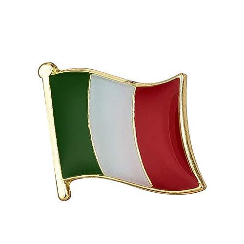 Vinciann Spilla spilletta Bandiera Italia bigiotteria Idea Regalo Tricolore 1,5x1,5cm