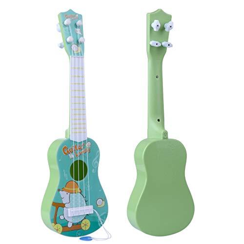 TETAKE Kindergitarre 16 Zoll 4 Saiten Gitarre Kinder Gitarre Spielzeug Gitarre Anfänger Gitarre Baby mit Plektrum Musikinstrumente für Kinder ab 1 Jahr