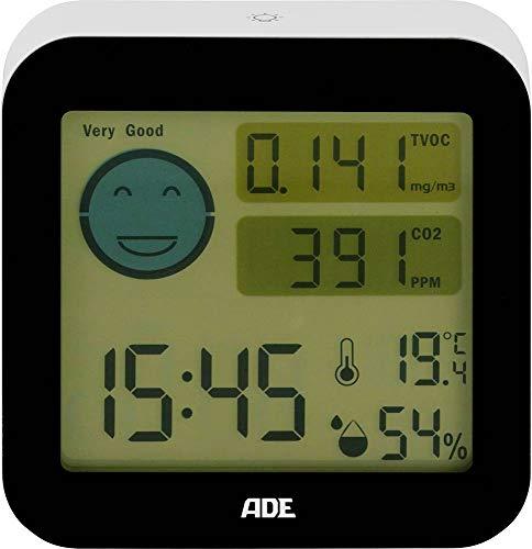 Thermo-hygromètre avec contrôle qualité de l'air Marque ADE