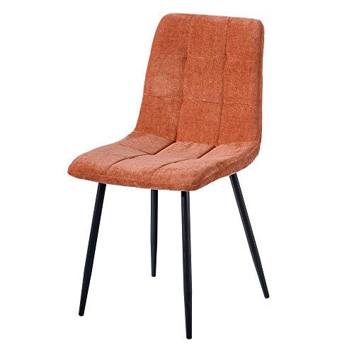 Silla capitoné tapizada, contemporánea Coral, de Tela y Metal, de 43x56x87 cm - LOLAhome