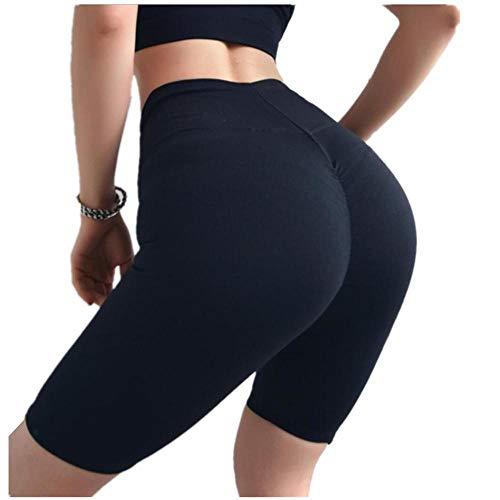NOBRAND Pantalones de yoga, medias, pantalones de chándal de talle alto ejercicio pantalones cortos de gimnasio para mujer de secado rápido pantalones cortos de entrenamiento de fitness para rascar pantalones de entrenamiento ajustados, negro, extra-large