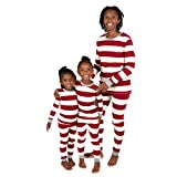Burt's Bees Baby Unisex Baby Family Jammies, Matching Holiday Pajamas, Organic Cotton PJs, Rugby Stripe,...
