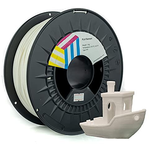 Eolas Prints Basics | Filamento PLA 1.75 | Stampante 3D PLA Plus | Adatto per uso alimentare | Bobina leggera | 1,75 mm | Bobina 1 kg | Bianco