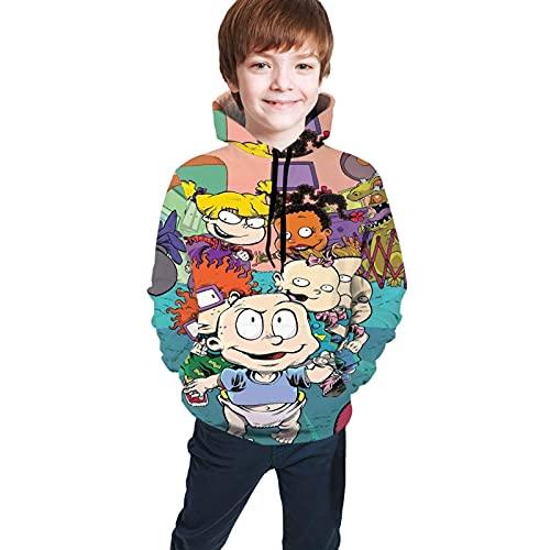 shenguang RU-Grats Go Wild - Sudadera con Capucha con Estampado Digital en 3D, Bolsillo, niño, niña, Adolescente, suéter con Capucha