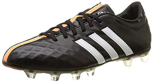 adidas Adipure 11Pro TRX FG, Scarpe da Calcio, Black-White-Flash Orange, Taglia 10.5 UK (45 1/3 EU)