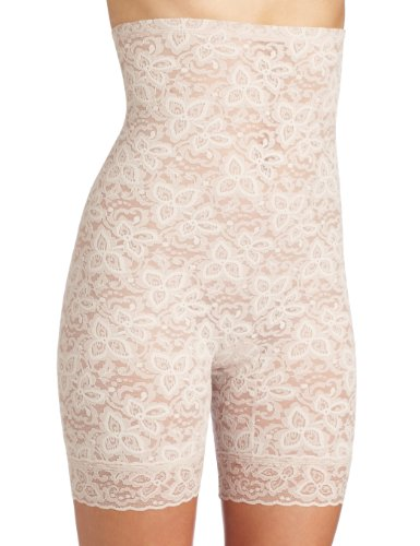 Bali Women's Shapewear Lace 'N Smooth Hi-Waist Thigh Slimmer, Rosewood, XX-Large
