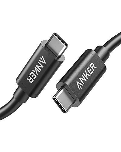 Anker Thunderbolt 3.0 Kabel 50cm,USB C auf USB C,unterstützt 100W superschnelles Laden und rapide Datenübertragung,für MacBook Pro,MacBook 2016,iPad Pro 2020,Google Pixel,Nexus 6P,Huawei Matebook,usw.