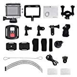 Sport Camera, 4K WiFi Sports Action Camera Full HD 1080P Double Screens Touch Screen Waterproof DV Camcorder with Remote Control, Wide Angle