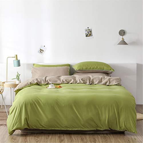 YYSZM Textiles para El Hogar Funda Nórdica Ropa De Cama Simple Color Sólido Atmósfera Moda Suave Y Agradable para La Piel Juego De 4 Piezas 200x230cm