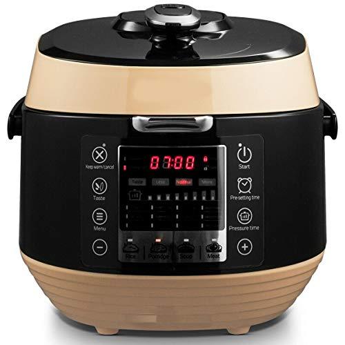 5.3 Qt 12-in-1 Programmable Electric Pressure Rice Cooker Non-stick Pot Black-Pressure cook-Best pressure cooker-Presuure cookers