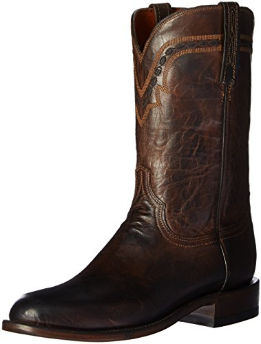 Lucchese Bootmaker Men's Jasper-ch Mad Dog Goat Riding Boot, Chocolate, 9 D US