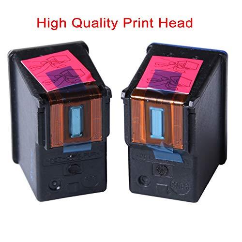 LIUYB Cartucho de Veteranos for HP 21 22 for Cartuchos de Tinta HP21 HP22 for HP DeskJet F2180 F2200 F2280 F4180 F300 F380 380 D2300 Impresoras (Color : 2X 21XL and 22XL)