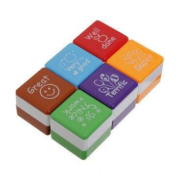 6 pcs enseignant Stamper Auto encrage récompense timbres Autocollant de motivation