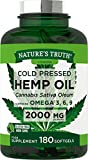 Hemp Seed Oil 2000mg 180 Softgel Capsules | High Strength, Cold Pressed |