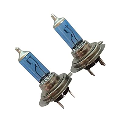 Xenon Replacement Bulbs, Transer 2pcs 12V Xenon Bright H7 55W 6000K Gas Halogen Headlight Lamp Bulbs, Pure White Light
