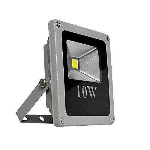 CristalRecord Proyector LED Extraplano para Exterior, 10 W, Gris, 13,8 x 11,5 x 4 cm