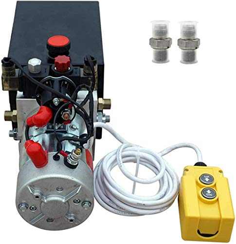 Fisters neu 12v hydraulikpumpe / hydraulikaggregat / elektro-kippanhänger netzteil 6 qurat doppel hydraulikkraft-einheiten