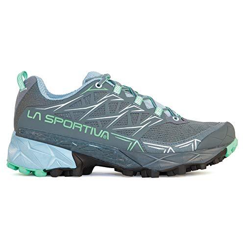 La Sportiva Akyra Women's Running Shoe, Slate/Jade Green, 37