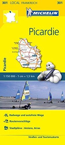 Michelin Picardie: Straßen- und Tourismuskarte 1:150.000 (MICHELIN Localkarten)