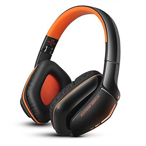 Casque Bluetooth sans fil pliable, casque de gaming V4.1, avec micro, pour PS4, PC, Mac, smartphone et ordinateur...