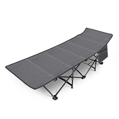 APXZC opklapbed voor eenpersoonsbed, draagbaar, met zijdelingse nettas, ademend comfort, robuust, duurzaam, snelsluiting, voor balkon