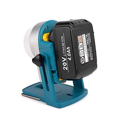 Luz de trabajo recargable Ecarke 16W para Ma-kita BL1830 14v / 18v Herramienta de interfaz de batería de litio Luz de emergencia