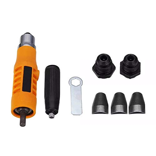 ZXJUAN Boor repareren klinknagellagers adapter nietapparaten drie grijperclips nietkoppen accessoires geschikt voor elektrische boormachine