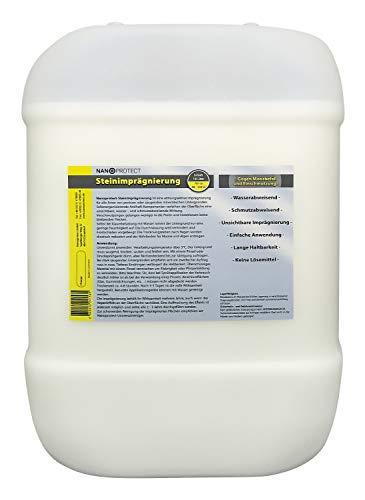 Nanoprotect Steinimprägnierung | Profi Qualität | Vorbeugend gegen Grünbelag und Einschmutzung | 10 L für ca. 80-120 m²