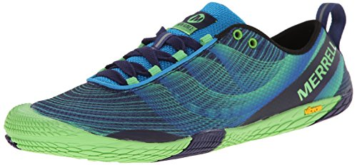 Merrell Men's Vapor Glove 2 Trail Running Shoe, Racer Blue/Bright Green, 8.5 M US